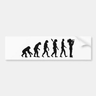 Evolutionskameramann Autoaufkleber