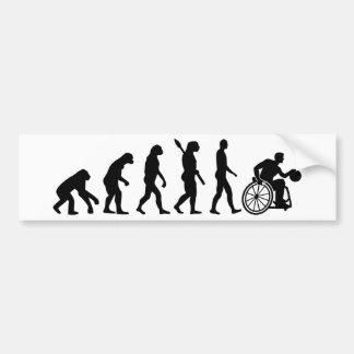 Evolutionsrollstuhlbasketball Autoaufkleber