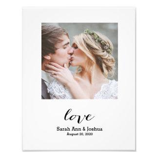 Ewiger Hochzeits-Foto-Druck der Liebe-  Fotodruck