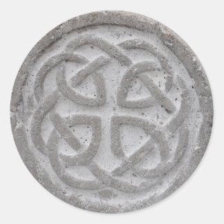 Ewiger keltischer Knoten-Stein-Umschlag Aufkleber