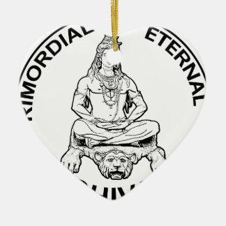 Ewiger Lords Shiva ursprünglicher, indischer Gott Keramik Herz-Ornament