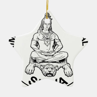 Ewiger Lords Shiva ursprünglicher, indischer Gott Keramik Stern-Ornament
