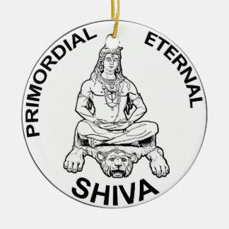Ewiger Lords Shiva ursprünglicher, indischer Gott Rundes Keramik Ornament