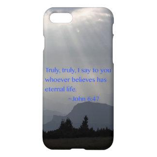 """Ewiges"" John-6:47 iPhone 8/7 Hülle"