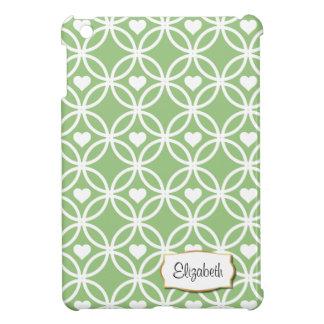 Ewigkeits-Kreis mit Herzen | iPad Minifallgrün iPad Mini Cover