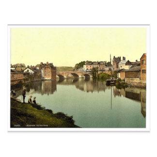 Exbridge, Klassiker Photochrom Exeters, England Postkarte