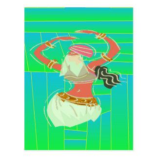 Exotische Bauchtänzerin Postkarte