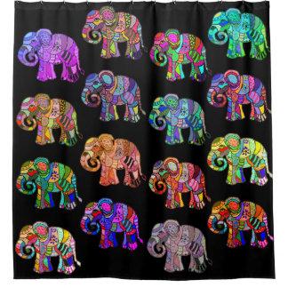 Exotische dekorative psychedelische bunte duschvorhang