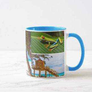 Exotische Ferien-Foto-Collagen-Kaffee-Tasse Tasse