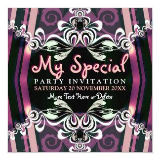Exotische lila Mädchen-Boudoir-Party Einladungen