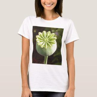 Exotische Mohnblumenart Grün-Blumen-Knospe T-Shirt