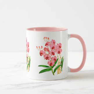 Exotische rosa Orchideen-Tasse Tasse