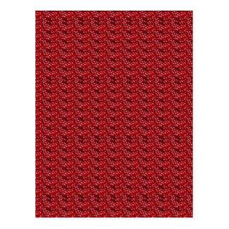 Exotische rote Beschaffenheits-Schablone DIY Postkarte