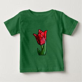 Exotische rote Buntglas-Tulpe Baby T-shirt