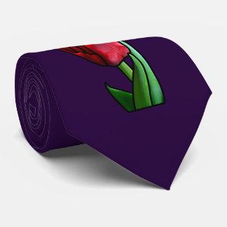 Exotische rote Buntglas-Tulpe Krawatte