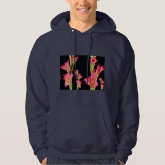 Exotischer rosa Blumen-Blumenstrauß-elegante mit Hoodie