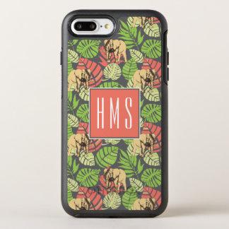 Exotisches der Dschungel-Blätter-und Elefant-  OtterBox Symmetry iPhone 8 Plus/7 Plus Hülle