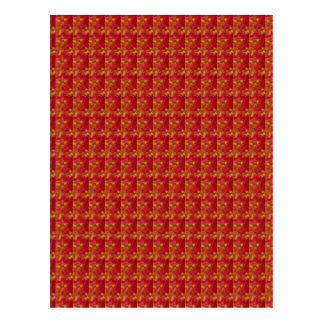Exotisches Rot gefangen genommen von der Blume: Postkarte
