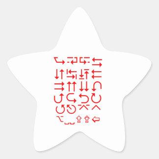 EXPERTE in den Richtungen: KARTE, die Ausflug-Weg Stern-Aufkleber