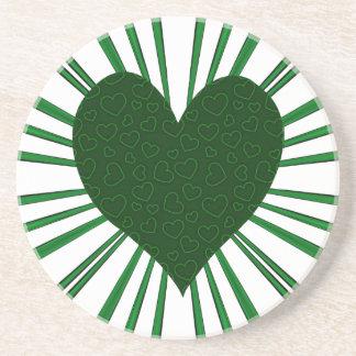 Explosion der Liebe (Grün) Untersetzer