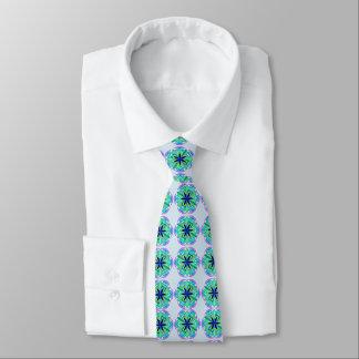 Extravagante aquamarine grafische Krawatte