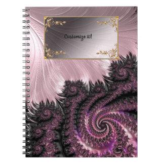 Extravagante elegante Fraktale mit coolen Notizblock