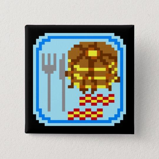 Extravagante Flapjacks Quadratischer Button 5,1 Cm