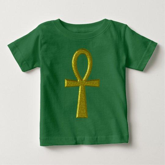 Extravagante GoldAnkh Baby-Kleidung Baby T-shirt