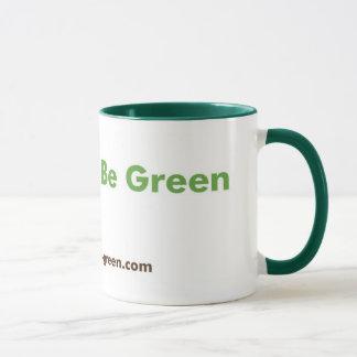 Extravagante grüne Tasse mit grünem Griff