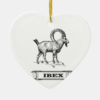 extravagante Locke des Steinbocks Keramik Ornament