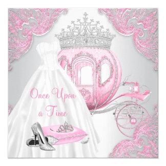 Extravagante rosa Aschenputtel-Prinzessin Birthday Karte