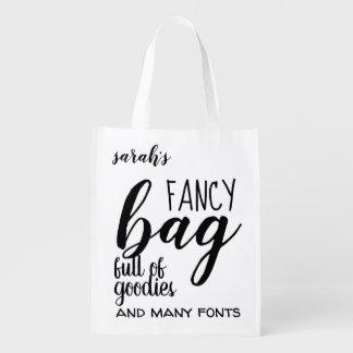 Extravagante Tasche voll der guter Sachen zitieren Wiederverwendbare Einkaufstasche