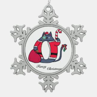 Extravagante Weihnachtsverzierung Schneeflocken Zinn-Ornament
