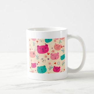Extravaganter Bär bunt Kaffeetasse