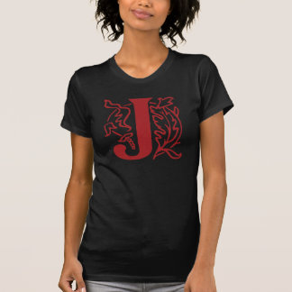 Extravaganter Buchstabe J T-Shirt