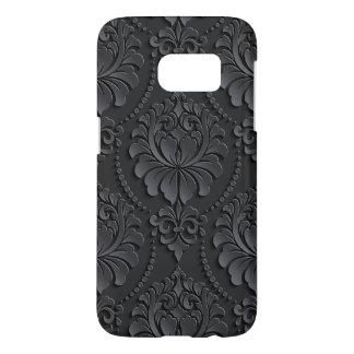 Extravaganter schwarzer Blumen-Entwurf