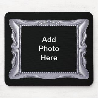 Extravaganter silberner Rahmen addieren Foto hier Mousepad
