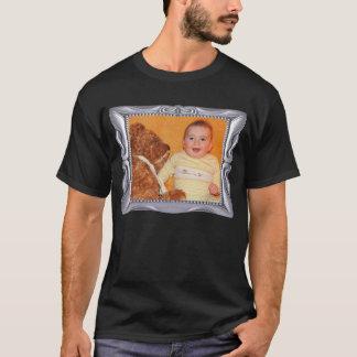 Extravaganter silberner Rahmen addieren Foto hier T-Shirt