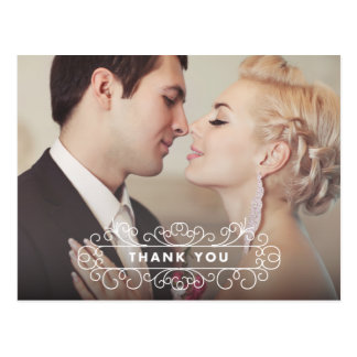 EXTRAVAGANTER SPANT WEDDING %PIPE% DANKEN IHNEN POSTKARTE