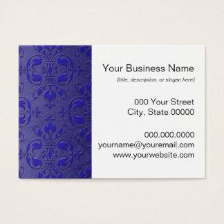 Extravagantes Kobalt-Blau über staubigem blauem Visitenkarte