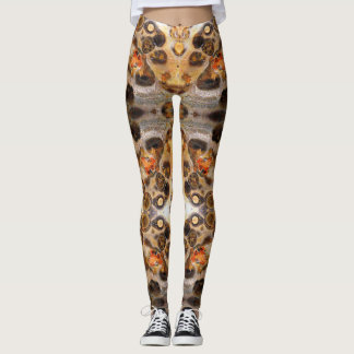 Extravagantes Leopard-Haut-Felsen-Foto entwarf Leggings