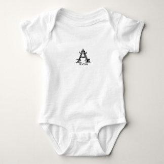 Extravagantes Monogramm: Alexa Baby Strampler