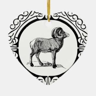 extravagantes RAM gerahmt Keramik Ornament