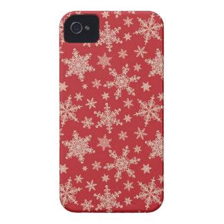 Extravagantes Schneeflocke-BlackBerry-mutige iPhone 4 Hülle