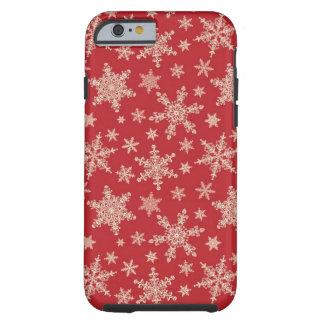 Extravagantes Schneeflocke-BlackBerry-mutige Tough iPhone 6 Hülle