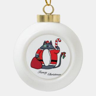 Extravagantes Weihnachten Keramik Kugel-Ornament