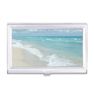 Extremer Entspannungs-Strand-Ansicht-Ozean Visitenkarten-Dose