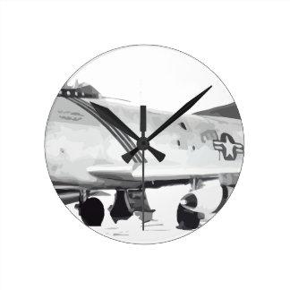F-86D RUNDE WANDUHR