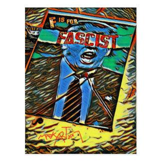 """""""F"""" ist für faschistisches, politisch, Politik Postkarte"""