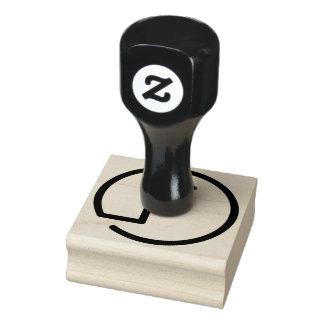 F-Monogramm-hölzerne GummiBriefmarke Gummistempel